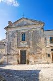 玛丹娜della Libera教会。Monte Sant'Angelo。普利亚。意大利。 库存照片