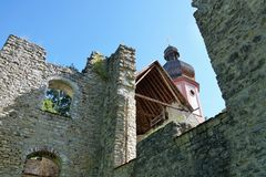 玛丽亚帮助教堂在南德国 免版税图库摄影