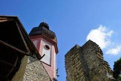 玛丽亚帮助教堂在南德国 图库摄影