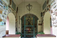 玛丽亚帮助教堂在南德国 库存照片