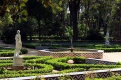 玛丽亚路易莎庭院,塞维利亚,安大路西亚,西班牙 免版税图库摄影