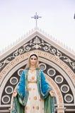 玛丽亚雕象 免版税库存照片