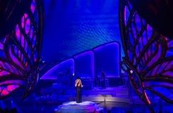 玛丽亚・凯莉发射'对无限的MARIAH 1'在凯撒宫我 图库摄影