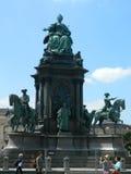 玛丽亚・特蕾西亚, Museumsquartier雕象在维也纳,奥地利 库存图片