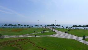 玛丽亚・赖歇公园在利马米拉弗洛雷斯区  免版税库存照片