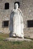 玛丽亚de托莱多 Plaza从Alcazar de Colon (帕拉西奥de地亚哥Colon)的de西班牙 多明戈santo 多米尼加共和国 库存图片