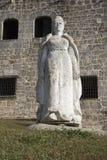 玛丽亚de托莱多 Plaza从Alcazar de Colon (帕拉西奥de地亚哥Colon)的de西班牙 多明戈santo 多米尼加共和国 库存照片