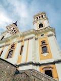 玛丽亚Radna方济会修道院- Lipova, Arad,罗马尼亚 免版税库存图片