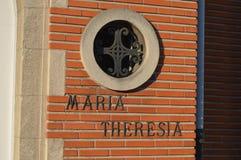 玛丽亚teresia房子在跟特, 2017年11月5日的比利时 免版税库存图片