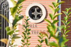玛丽亚teresia房子在跟特, 2017年11月5日的比利时 免版税库存照片