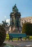 玛丽亚Theresia的纪念碑在维也纳 库存照片