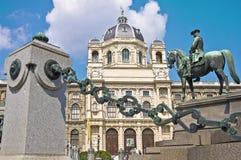 玛丽亚Theresienplatz在维也纳,奥地利 库存图片