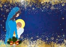玛丽和耶稣 图库摄影