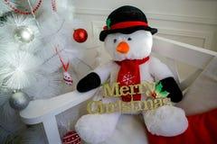 玛丽圣诞节 欢乐雪人 免版税库存图片