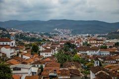 玛丽安娜市-米纳斯吉拉斯州,巴西鸟瞰图  库存图片