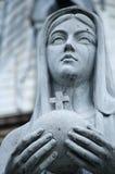玛丽母亲雕象 库存照片