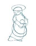 玛丽母亲 免版税图库摄影