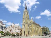 玛丽的名字的教会在诺维萨德,塞尔维亚 库存照片