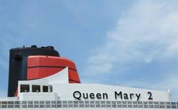 玛丽皇后2个游轮细节 库存图片