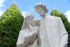 玛丽约瑟夫和小耶稣 库存照片
