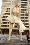 玛丽莲・梦露雕象在芝加哥 免版税库存图片