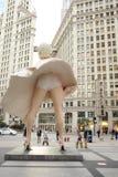 玛丽莲・梦露雕象在芝加哥 库存照片