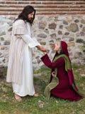 玛丽认可耶稣 图库摄影