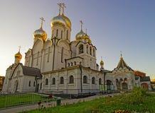 玛丽诞生大教堂在构想女修道院在莫斯科 免版税图库摄影
