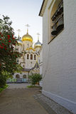玛丽诞生大教堂在莫斯科wi的构想女修道院 免版税库存照片