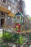 玛丽雕象在一个后院在Praga区 图库摄影