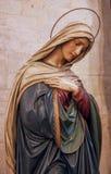 玛丽雕象贞女 免版税图库摄影
