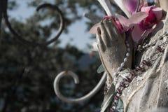 玛丽雕象贞女 免版税库存照片