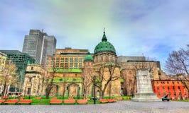 玛丽,世界大教堂的女王/王后在蒙特利尔,加拿大 免版税库存照片