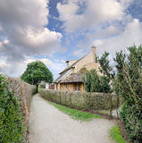 玛丽・安托瓦内特村庄在凡尔赛 免版税库存照片