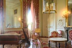 玛丽・安托瓦内特的Trianon的音乐室 免版税库存图片