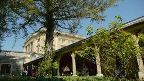 玛丽・安托瓦内特领域凡尔赛庭院的 法国 股票视频