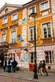 玛丽・居里,华沙诞生房子  免版税图库摄影