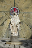 玛丽・ nazareth雕象贞女 库存照片