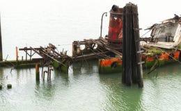 玛丽D的遗骸 金海滩的俄勒冈休姆 库存照片