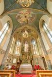 玛利亚希尔夫教会在Motz,奥地利 图库摄影