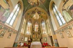 玛利亚希尔夫教会在Motz,奥地利 免版税库存图片