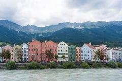 玛利亚希尔夫街在因斯布鲁克,奥地利 免版税图库摄影