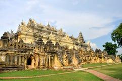 玛哈Aungmye Bonzan修道院,阿瓦 库存图片