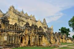玛哈Aungmye Bonzan修道院,阿瓦 库存照片