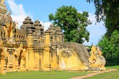 玛哈Aungmye Bonzan修道院, Innwa,缅甸 免版税库存照片