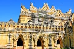 玛哈Aungmye Bonzan修道院, Innwa,缅甸 免版税库存图片