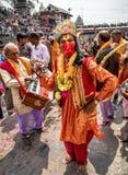 玛哈Shivaratri节日, Pashupatinath寺庙,钾 免版税库存照片