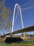 玛格丽特狩猎桥梁在达拉斯晴朗的冬日 免版税库存照片
