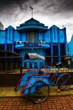 玛琅,印度尼西亚人力车  库存图片
