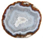玛瑙和石英geode 库存图片